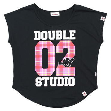(Wstudio)  CHECK  LOGO  AERO  TOP ブラック