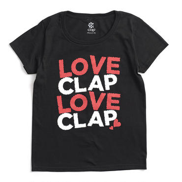 (CLAP)  LOVE  CLAP×2  Tee ブラック