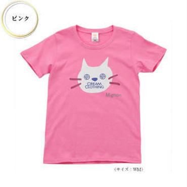 (CREAM  CLOTHING)  Mignon Chat Tee ピンク