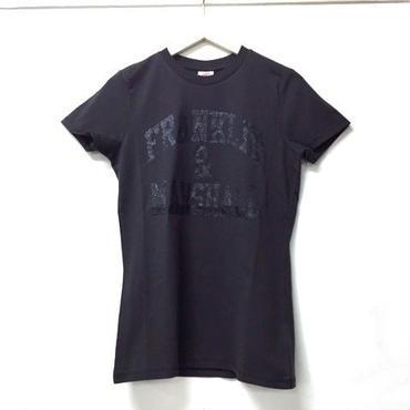 (FRANKLIN&MARSHALL)  クラッシックフィットラメロゴTシャツ ブラックシャドウ