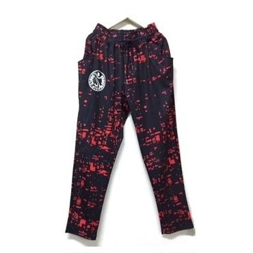 (MJ DIVA)    ペイント柄リラックスジョガーパンツ2 RED