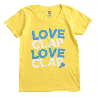(CLAP)  LOVE  CLAP×2  Tee イエロー