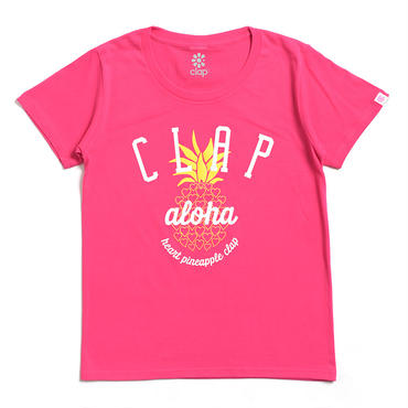 (CLAP)  HEART  PINEAPPLE  Tee ピンク