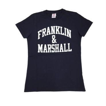 (FRANKLIN&MARSHALL)  アーチロゴTシャツ ブラック