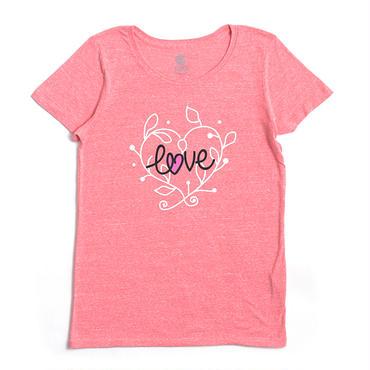 (CLAP)  LOVE-LEAF  Tee ピンク