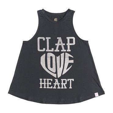 (CLAP)  HEART-CLAP  a-LINE  TANK ブラック