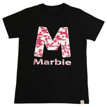 (Marble)  迷彩柄Tシャツ ブラック