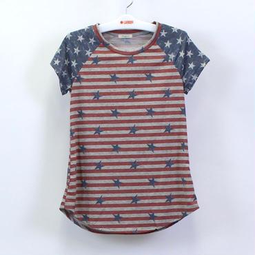 (12PM BY MON AMI)  アメリカンフラッグ Tシャツ PRINT