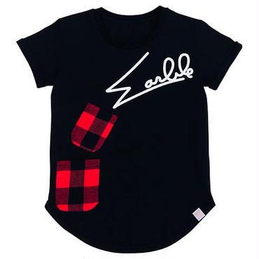 (Marble)  ラウンドTシャツ ブラック