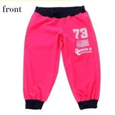 (CREAM  CLOTHING)  American  college  ロゴロッティクロップドパンツ ホットピンク