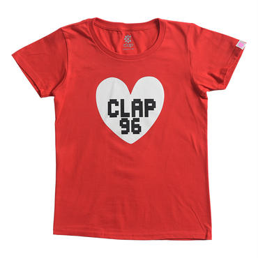 (CLAP)  B-HEART  Tee レッド