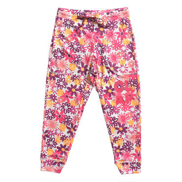 (CLAP)  M-FLOWER  CROPPED PANTS ピンク
