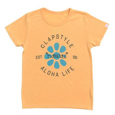 (CLAP)  ALOHA  LIFE  Tee ヘザーイエロー