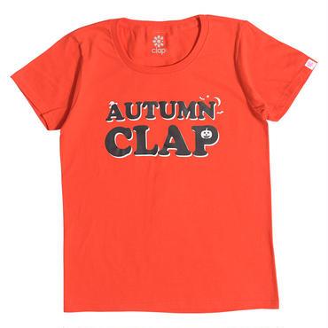 (CLAP)  AUTUMN  CLAP  Tee オレンジ