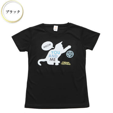 (CREAM  CLOTHING)  You and me Kitten T-shirt  ブラック