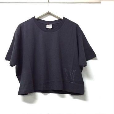 (FRANKLIN&MARSHALL)  クロップドTシャツ ブラックシャドー