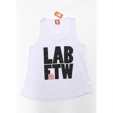 (LA  BODY)  エルエーボディ LABFTW ビッグロゴ タンクトップ  WHITE