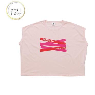 (BENESTA)  ribbon  Tee フロストピンク
