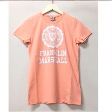 (FRANKLIN&MARSHALL)  クラッシックフィットTシャツ ピーチ