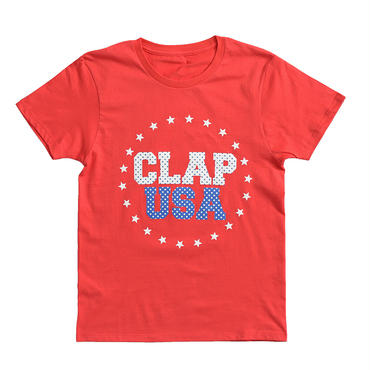 (CLAP)  CLAP  USA  Tee レッド