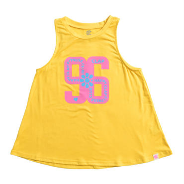 (CLAP)  HAPPY FITNESS a-LINE TANK イエロー