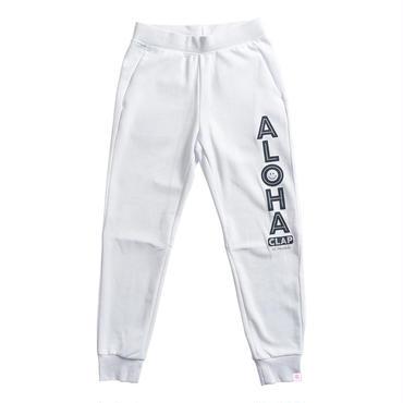 (CLAP)  ALOHA CLAP  SWEAT PANTS ホワイト
