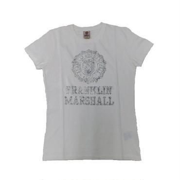 (FRANKLIN&MARSHALL) エンブレム ロゴTシャツ オールドホワイト