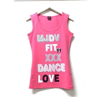 (MJ DIVA) DANCE-LOVEストレッチUタンクトップ ピンク
