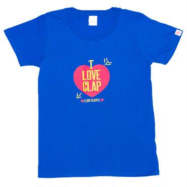 (CLAP)  LOVE  CLAPPLE ブルー