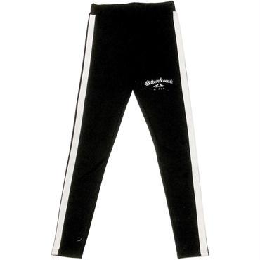 SIDE LINE FULL LEGGINGS ブラック/ホワイト