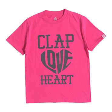 (CLAP)  HEART-CLAP  Tee ピンク