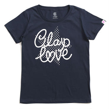 (CLAP)  DOT  STAR  Tee ネイビー