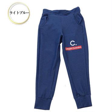 (CREAM  CLOTHING)  クリームロゴ  テーパードパンツ ライトブルー
