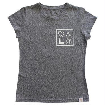 (Marble)  ちびTシャツ グレー