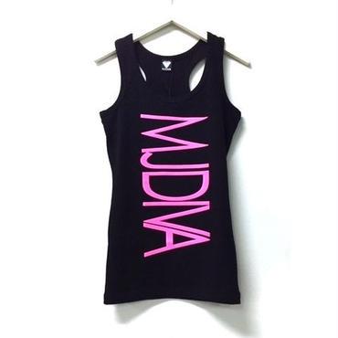 (MJ DIVA) NEWロゴストレッチYバックタンクトップ ブラック/ピンク