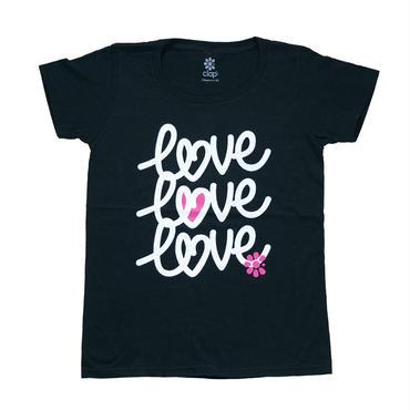 (CLAP)  LOVE×3  Tee ブラック
