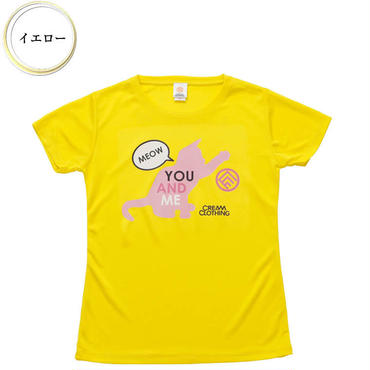 (CREAM  CLOTHING)  You and me Kitten T-shirt  イエロー