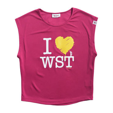 (Wstudio)  I  LOVE  WST  NO  Sleeve  Tee ベリー
