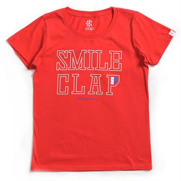 (CLAP)  SMILE  CLAP  Tee レッド
