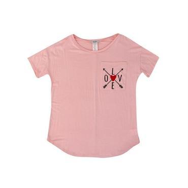 (davida)  デザインポケットTシャツ ライトピンク