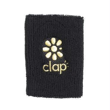 (CLAP)  WRIST  BAND ブラック/ゴールド