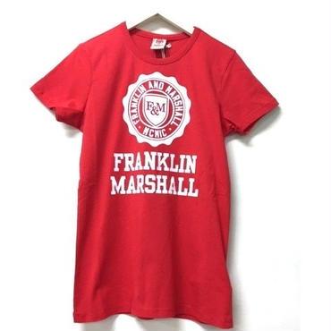 (FRANKLIN&MARSHALL)  クラッシックフィットTシャツ ファイヤーレッド