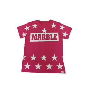 (Marble)  ユニセックス スターTシャツ ピンク