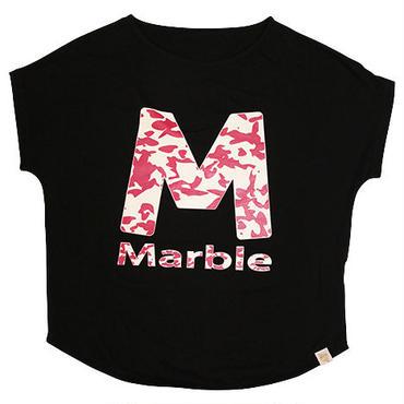 (Marble)  迷彩柄ドルマンT ブラック