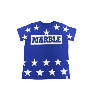 (Marble)  ユニセックス スターTシャツ ブルー