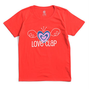 (CLAP)  ANGEL-HEART  Tee レッド