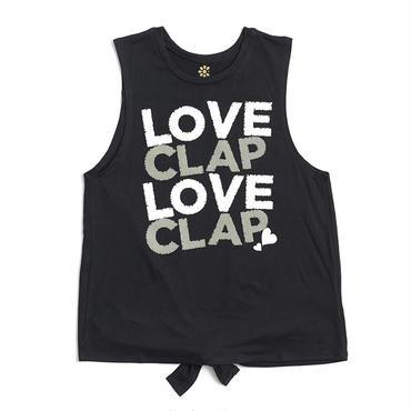 (CLAP)  LOVE  CLAP×2  BACK  OPEN  TANK ブラック
