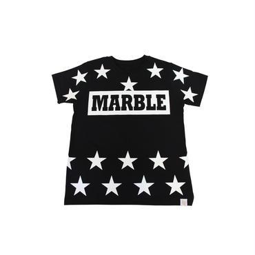(Marble)  ユニセックス スターTシャツ ブラック