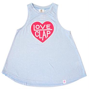 (CLAP)  LOVE  CLAP  a-LINE  TANK ライトブルー