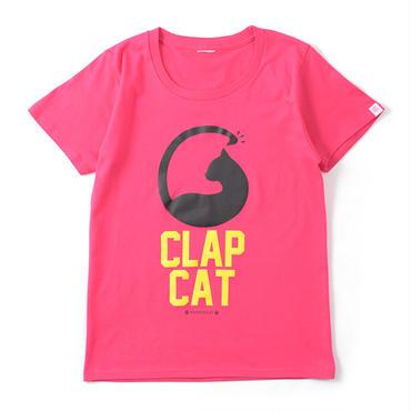 (CLAP)  CLAP  CAT  Tee ピンク